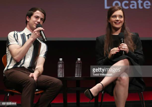 Dylan Minnette and Katherine Langford attend the Netflix's '13 Reasons Why' FYC Event at Netflix FYSee Space on June 2 2017 in Beverly Hills...