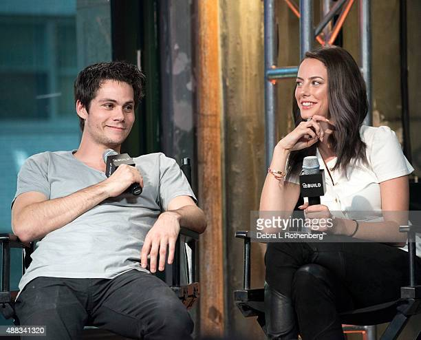 Dylan O'Brien and Kaya Scodelario attend AOL BUILD Speaker Series 'Maze Runner Scorch Trials' at AOL Studios In New York on September 15 2015 in New...