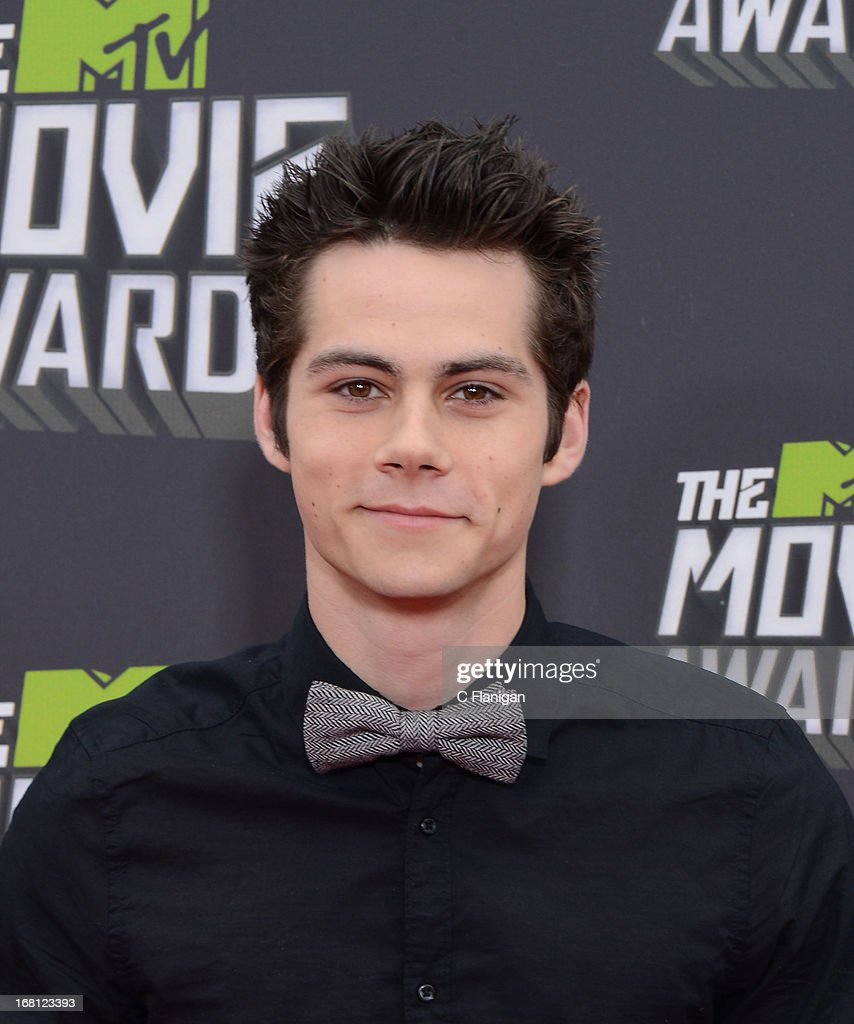 Dylan O'Brien arrives at the 2013 MTV Movie Awards at Sony Pictures Studios on April 14, 2013 in Culver City, California.