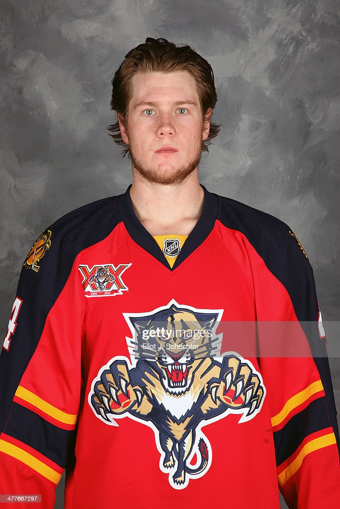 <a gi-track='captionPersonalityLinkClicked' href=/galleries/search?phrase=Dylan+Olsen&family=editorial&specificpeople=5894613 ng-click='$event.stopPropagation()'>Dylan Olsen</a> #4 of the Florida Panthers poses for his official headshot for the 2013-2014 NHL season.