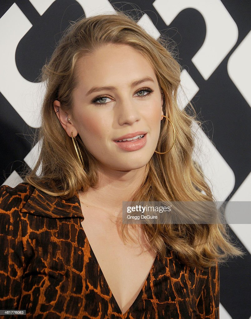 <a gi-track='captionPersonalityLinkClicked' href=/galleries/search?phrase=Dylan+Penn&family=editorial&specificpeople=4437761 ng-click='$event.stopPropagation()'>Dylan Penn</a> arrives at Diane Von Furstenberg's 'Journey Of A Dress' premiere opening party at Wilshire May Company Building on January 10, 2014 in Los Angeles, California.