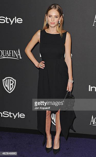 Dylan Penn arrives at the 16th Annual Warner Bros And InStyle PostGolden Globe Party at The Beverly Hilton Hotel on January 11 2015 in Beverly Hills...