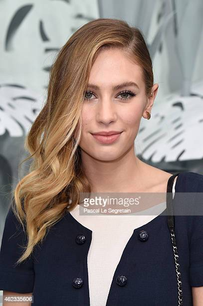 Dylan Penn attends the Chanel show as part of Paris Fashion Week Haute Couture Spring/Summer 2015 on January 27 2015 in Paris France