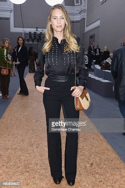 Dylan Penn attends the Chloe show as part of the Paris Fashion Week Womenswear Spring/Summer 2016 on October 1 2015 in Paris France