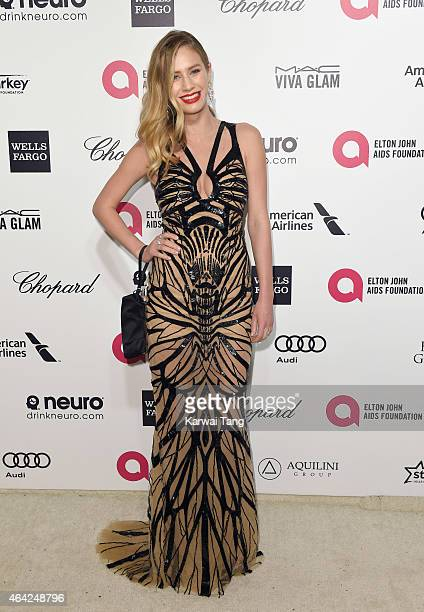 Dylan Penn attends the Elton John AIDS Foundation's 23rd annual Academy Awards Viewing Party at The City of West Hollywood Park on February 22 2015...