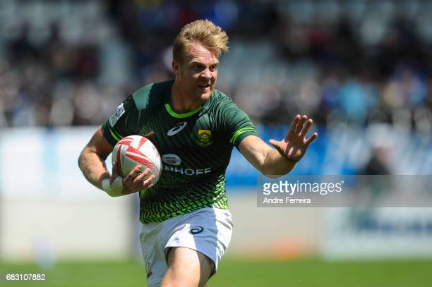 Dylan Sage of South Africa during the match between South Africa and New Zealand at the HSBC Paris Sevens stage of the Rugby Sevens World Series on...