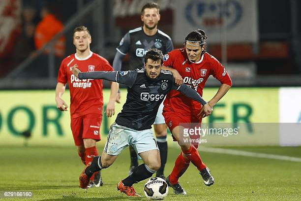 Dylan Seys of FC Twente Amin Younes of Ajax Amsterdam Mitchell Dijks of Ajax Amsterdam Enes Unal of FC Twenteduring the Dutch Eredivisie match...