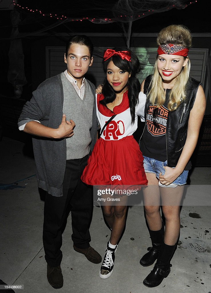 Dylan Sprayberry, Teala Dunn and Gracie Dzienny attend pop singer Temara Melek's UNICEF Party on October 19, 2012 in Los Angeles, California.