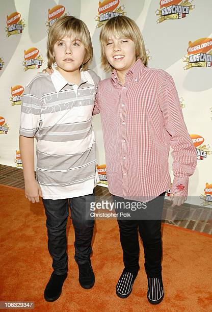 Dylan Sprouse and Cole Sprouse during Nickelodeon's 20th Annual Kids' Choice Awards Orange Carpet at Pauley Pavilion UCLA in Westwood California...