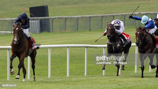 Dylan Thomas and jockey Kieren Fallon wins the Budweiser Irish Derby at the Curragh racecourse Kildare Ireland