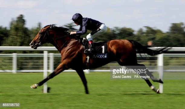 Dylan Thomas riden by jockey Jonny Murtagh wins the King George VI and Queen Elizabeth Stakes at Ascot Racecourse