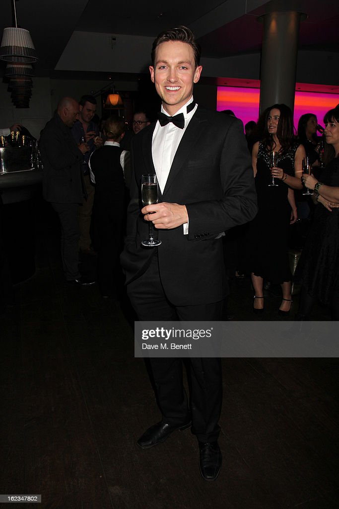 Dylan Turner attend 'The Tailor-Made Man' press night after party at the Haymarket Hotel on January 21, 2013 in London, England.