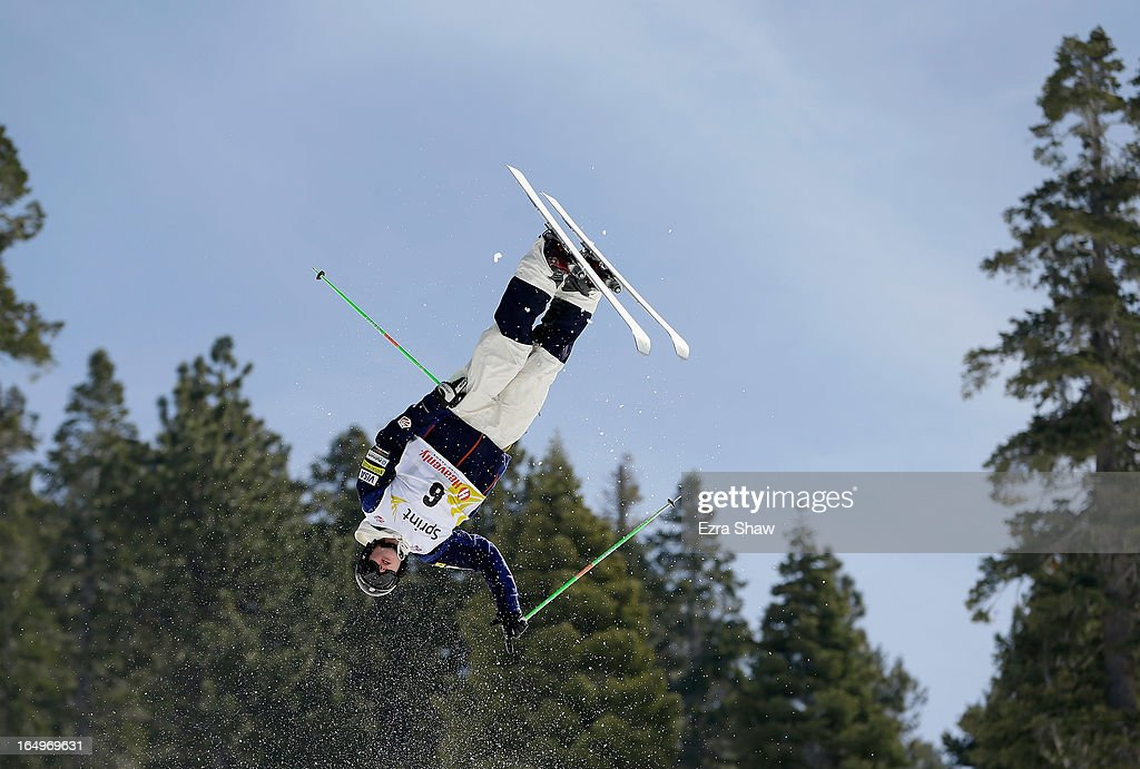 Dylan Walczyk competes in the Men's Moguls at the U.S. Freestyle Moguls National Championship at Heavenly Resort on March 29, 2013 in South Lake Tahoe, California.