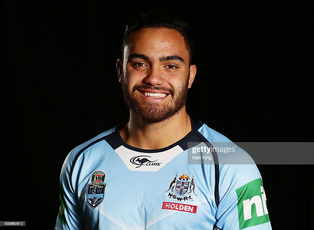 <a gi-track='captionPersonalityLinkClicked' href=/galleries/search?phrase=Dylan+Walker&family=editorial&specificpeople=10506368 ng-click='$event.stopPropagation()'>Dylan Walker</a> of the Blues poses during a New South Wales Blues NRL State of Origin portrait session at The Novatel on May 24, 2016 in Coffs Harbour, Australia.