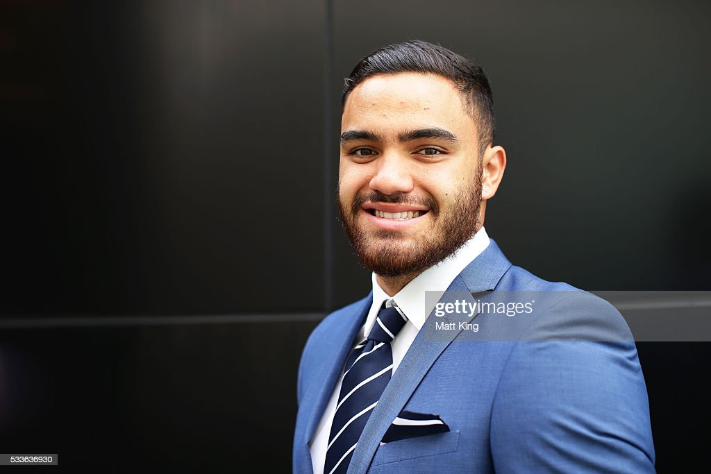 Dylan Walker poses during the NSW Blues State of Origin team announcement at The Star on May 23, 2016 in Sydney, Australia.