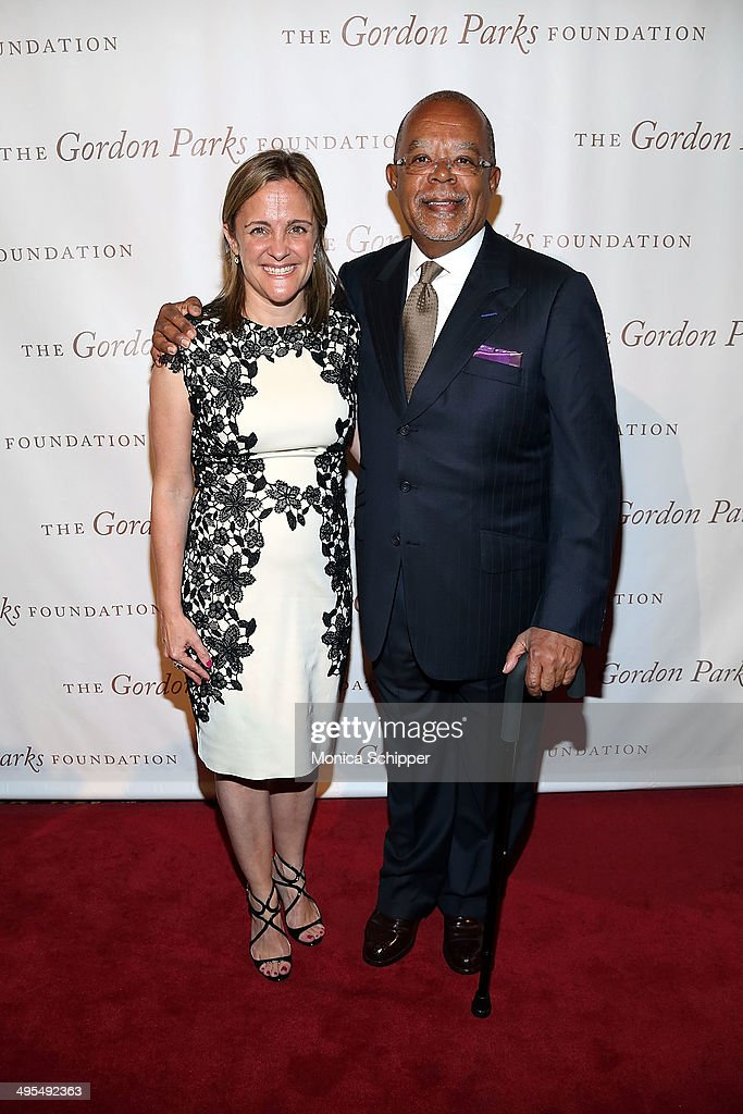 Dyllan McGee (L) and Henry Louis Gates, Jr. attend 2014 Gordon Parks Foundation awards dinner at Cipriani Wall Street on June 3, 2014 in New York City.