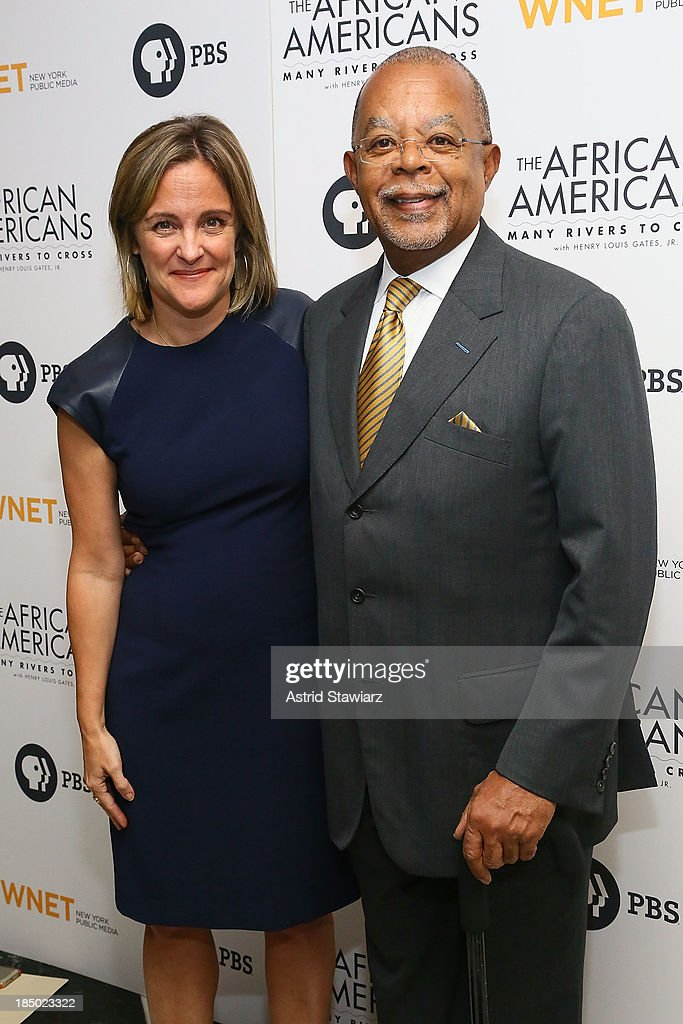 Dyllan McGee and Henry Louis Gates, Jr. attend 'The African Americans: Many Rivers to Cross' New York Series Premiere at the Paris Theater on October 16, 2013 in New York City.