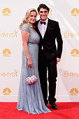 Dyna Mitte and actor RJ Mitte attend the 66th Annual Primetime Emmy Awards held at Nokia Theatre LA Live on August 25 2014 in Los Angeles California