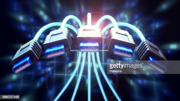 Dynamische USB Kabel Nahaufnahme