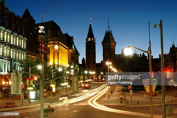 Dynamic view of Ottawa Canada, Parliament Buildings.