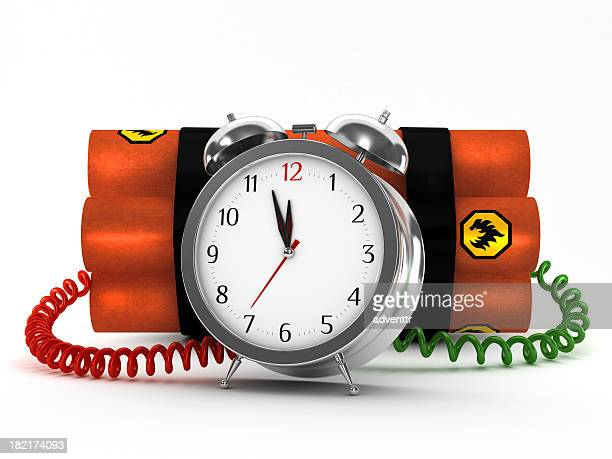 Dynamite with metal alarm clock