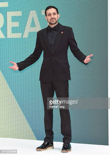 Dynamo arrives for the Prince's Trust and Samsung Celebrate Success Awards at the London Palladium on March 7 2016 in London England
