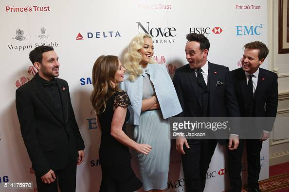 Dynamo Geri Horner Rita Ora Anthony McPartlin and Declan Donnelly share a joke as they attend The Prince's Trust Celebrate Success Awards at London...