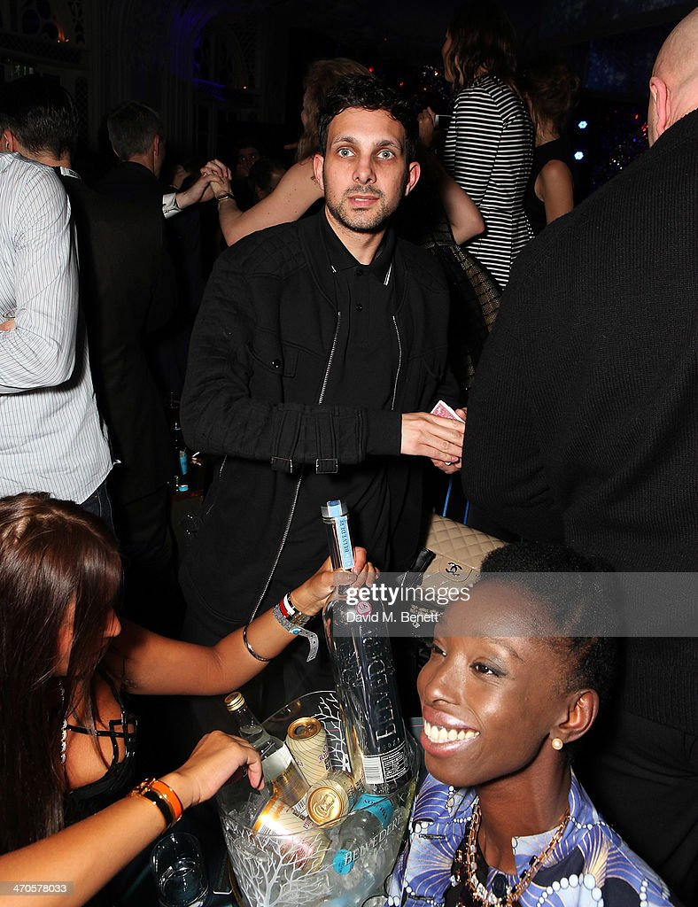 Dynamo is seen at Warner & Belvedere Post BRIT Awards party at The Savoy Hotel on February 19, 2014 in London, England.