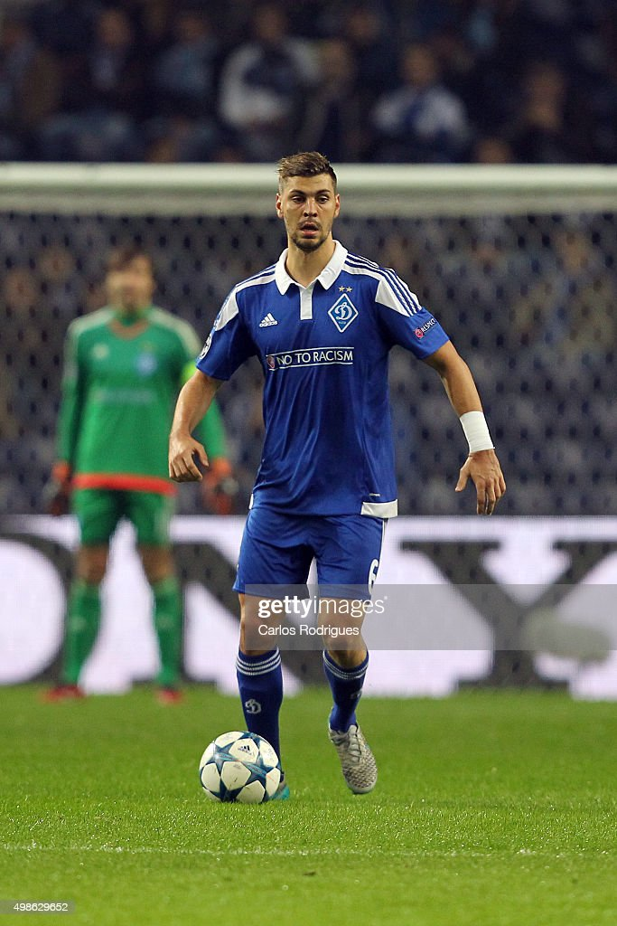 FC Dynamo Kyiv's defender Aleksandar Dragovic during the Champions League match between FC Porto and FC Dynamo Kyiv at Estadio do Dragao on November 24, 2015 in Porto, Portugal.