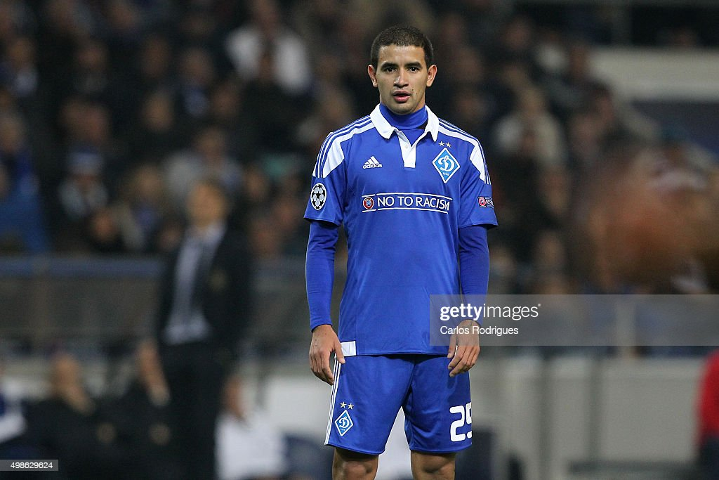 FC Dynamo Kyiv's midfielder Derlis Gonzalez during the Champions League match between FC Porto and FC Dynamo Kyiv at Estadio do Dragao on November 24, 2015 in Porto, Portugal.