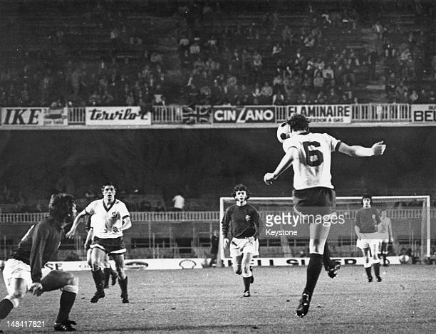 FC Dynamo Moscow midfielder Yevgeni Zhukov on the ball during the 1972 European Cup Winners' Cup final match against Glasgow Rangers at Camp Nou...