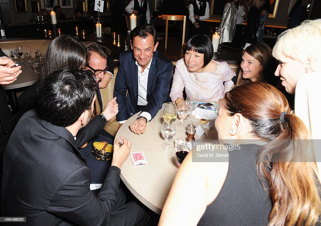 Dynamo performs magic tricks for guests at The Business of Fashion celebrating the #BOF500 the people shaping the global fashion industry at The...