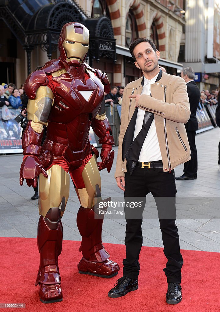 'Dynamo' Steve Frayne attends a special screening of 'Iron Man 3' at Odeon Leicester Square on April 18, 2013 in London, England.