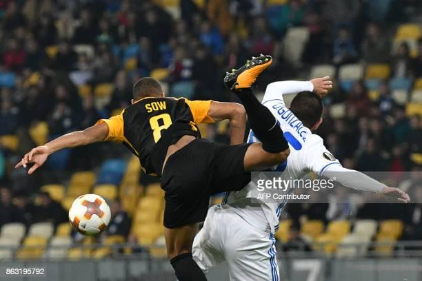 TOPSHOT Dynamo's midfielder Derlis Gonzalez vies with Young Boys midfielder Djibril Sow during the UEFA Europa League Group B football match between...