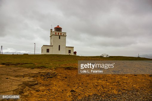 Dyrhólaey lighthouse : Foto de stock