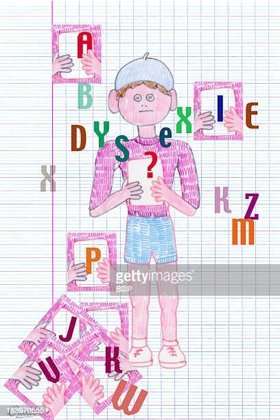 Dyslexia conceptual Illustration