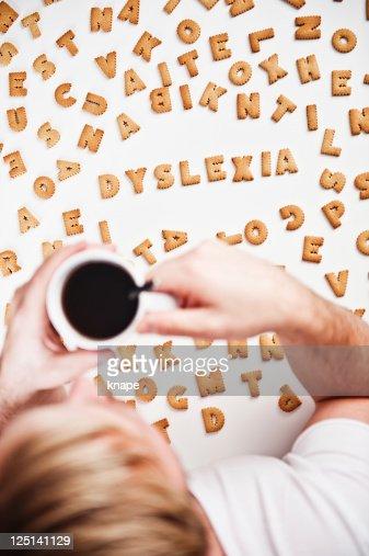 Dyslexia spelled in cookies : Foto de stock