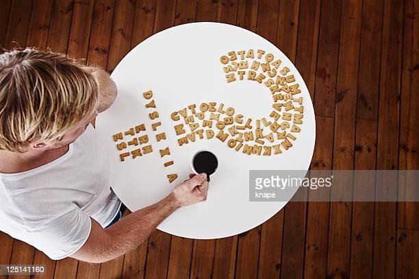 Dyslexie geschrieben in cookies