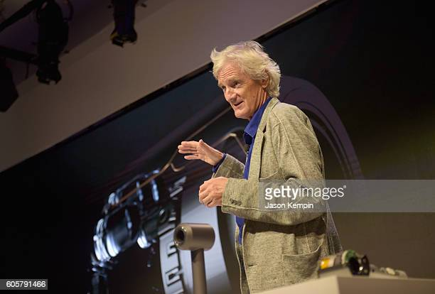 Dyson founder and chief engineer Sir James Dyson speaks onstage during the Dyson Supersonic Hair Dryer launch event at Center548 on September 14 2016...