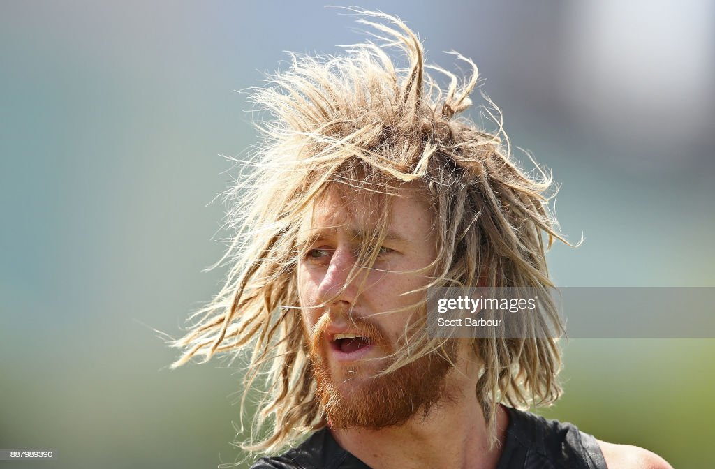 Dyson Heppell of the Bombers looks on during an Essendon Bombers Media Announcement & Training Session at Essendon Football Club on December 8, 2017 in Melbourne, Australia.