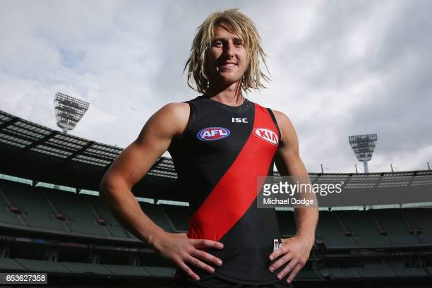Dyson Heppell of the Bombers poses during AFL Captains Day at Melbourne Cricket Ground on March 16 2017 in Melbourne Australia