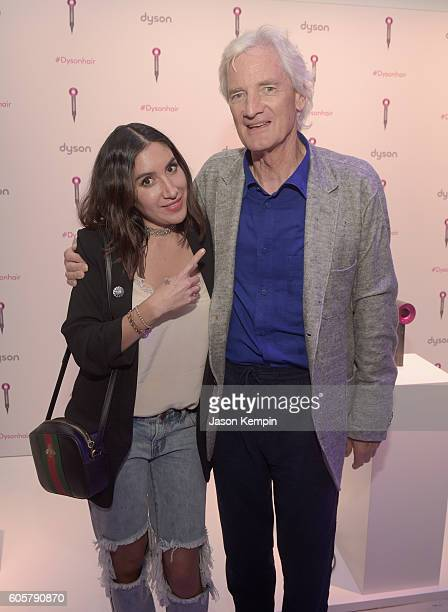 Dyson Supersonic ambassador Jen Atkin and Dyson founder and chief engineer Sir James Dyson attend the Dyson Supersonic Hair Dryer launch event at...