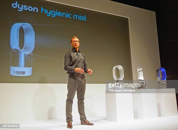 Dyson's 'Hygienic Mist' humidifier is displayed on October 20 2014 in Tokyo Japan The humidifier will be on sale in Japan in November