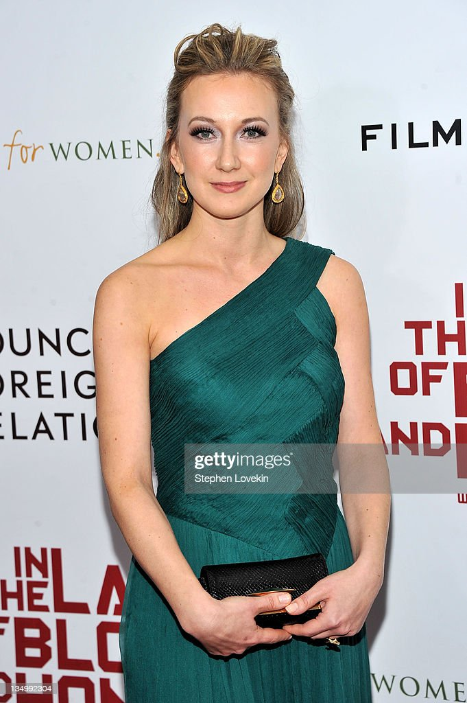 Dzana Pinjo attends the premiere of 'In the Land of Blood and Honey' at the School of Visual Arts on December 5, 2011 in New York City.