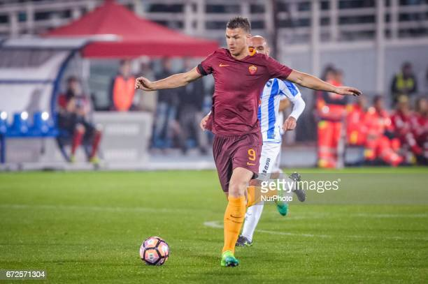 Dzeko Edin during the Italian Serie A football match Pescara vs Roma on April 24 in Pescara Italy