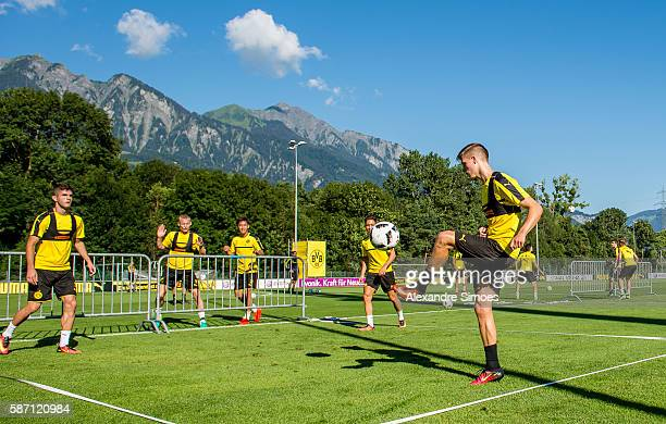 Dzenis Burnic of Borussia Dortmund during a training session on the training ground of Bad Ragaz during Borussia Dortmund's summer training camp 2016...