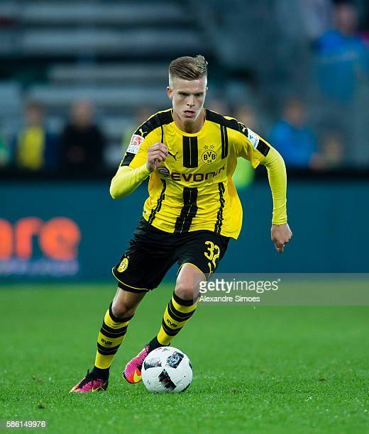 Dzenis Burnic of Borussia Dortmund in action during the friendly match between AFC Sunderland and Borussia Dortmund at Cashpoint Arena on August 05...