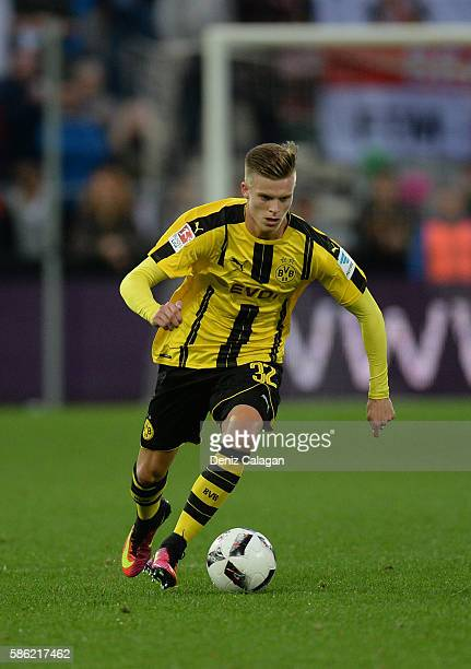 Dzenis Burnic of Dortmund in action during the friendly match between AFC Sunderland v Borussia Dortmund at Cashpoint Arena on August 5 2016 in...