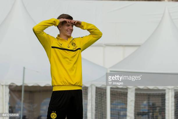 Dzenis Burnic of Dortmund looks on during the fifth day of the training camp in Marbella on January 09 2017 in Marbella Spain