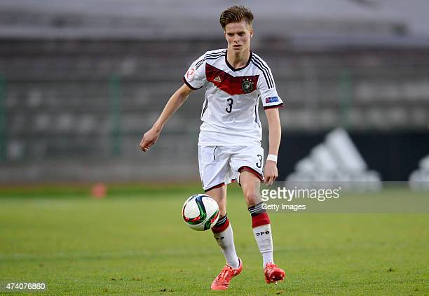 Dzenis Burnic of Germany U17 in action during the UEFA European Under17 Championship Semi Final match between Germany U17 and Russia U17 at Beroe...